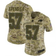 Wholesale Cheap Nike Bills #57 A.J. Epenesas Camo Women's Stitched NFL Limited 2018 Salute To Service Jersey