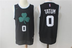 Wholesale Cheap Men\'s Boston Celtics #0 Jayson Tatum Black 2017-2018 Nike Swingman Stitched NBA Jersey