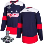 Wholesale Cheap Adidas Capitals Blank Navy Authentic 2018 Stadium Series Stanley Cup Final Champions Stitched Youth NHL Jersey
