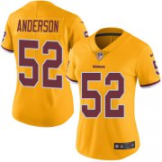 Wholesale Cheap Nike Redskins #52 Ryan Anderson Gold Women's Stitched NFL Limited Rush Jersey