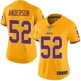 Wholesale Cheap Nike Redskins #52 Ryan Anderson Gold Women\'s Stitched NFL Limited Rush Jersey