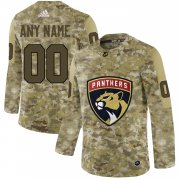 Wholesale Cheap Men's Adidas Panthers Personalized Camo Authentic NHL Jersey