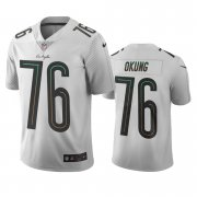 Wholesale Cheap Los Angeles Chargers #76 Russell Okung White Vapor Limited City Edition NFL Jersey
