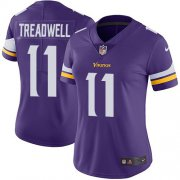Wholesale Cheap Nike Vikings #11 Laquon Treadwell Purple Team Color Women's Stitched NFL Vapor Untouchable Limited Jersey