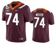 Wholesale Cheap Men's Virginia Tech Hokies #74 Doug Nester Maroon 150th College Football Nike Jersey