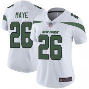Wholesale Cheap Nike Jets #26 Marcus Maye White Women's Stitched NFL Vapor Untouchable Limited Jersey