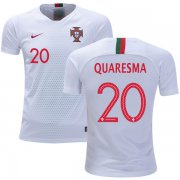 Wholesale Cheap Portugal #20 Quaresma Away Kid Soccer Country Jersey