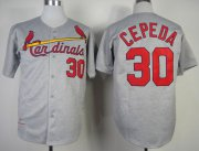 Wholesale Cheap Mitchell And Ness 1967 Cardinals #30 Orlando Cepeda Grey Throwback Stitched MLB Jersey