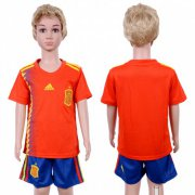 Wholesale Cheap Spain Blank Home Kid Soccer Country Jersey