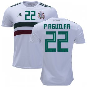 Wholesale Cheap Mexico #22 P.Aguilar Away Kid Soccer Country Jersey