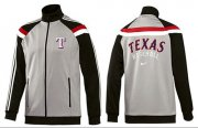 Wholesale Cheap MLB Texas Rangers Zip Jacket Grey