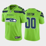 Wholesale Cheap Seattle Seahawks Custom Green Men's Nike Big Team Logo Vapor Limited NFL Jersey