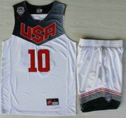 Wholesale Cheap 2014 USA Dream Team #10 Kyrie Irving White Basketball Jersey Suits