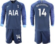 Wholesale Cheap Tottenham Hotspur #14 Nkoudou Away Long Sleeves Soccer Club Jersey