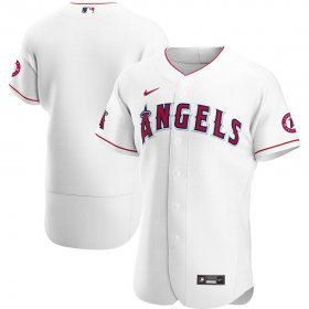 Wholesale Cheap Los Angeles Angels Men\'s Nike White Home 2020 Authentic Team MLB Jersey