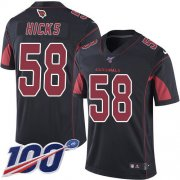 Wholesale Cheap Nike Cardinals #58 Jordan Hicks Black Men's Stitched NFL Limited Rush 100th Season Jersey