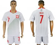 Wholesale Cheap Poland #7 Milik Home Soccer Country Jersey