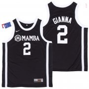 Wholesale Cheap Men's Mamba #2 Gianna Black College Basketball Swingman Stitched Nike Jersey