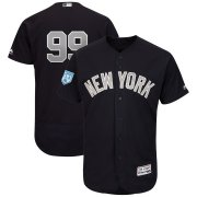 Wholesale Cheap Yankees #99 Aaron Judge Navy Alternate 2019 Spring Training Flex Base Stitched MLB Jersey