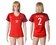 Wholesale Cheap Women's Portugal #2 Bruno Alves Home Soccer Country Jersey