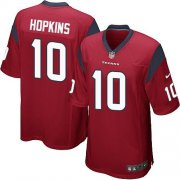 Wholesale Cheap Nike Texans #10 DeAndre Hopkins Red Alternate Youth Stitched NFL Elite Jersey
