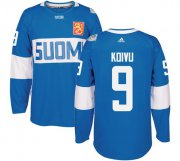 Wholesale Cheap Team Finland #9 Mikko Koivu Blue 2016 World Cup Stitched NHL Jersey