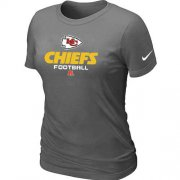 Wholesale Cheap Women's Nike Kansas City Chiefs Critical Victory NFL T-Shirt Dark Grey