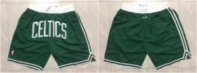 Wholesale Cheap Celtics Green Just Don Mesh Shorts