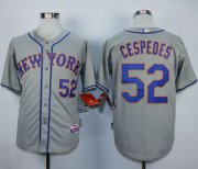 Wholesale Cheap Mets #52 Yoenis Cespedes Grey Road Cool Base Stitched MLB Jersey