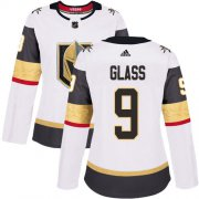 Wholesale Cheap Adidas Golden Knights #9 Cody Glass White Road Authentic Women's Stitched NHL Jersey