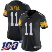 Wholesale Cheap Nike Steelers #11 Chase Claypool Black Alternate Women's Stitched NFL 100th Season Vapor Untouchable Limited Jersey