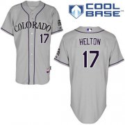 Wholesale Cheap Rockies #17 Todd Helton Grey Cool Base Stitched Youth MLB Jersey