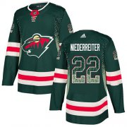 Wholesale Cheap Adidas Wild #22 Nino Niederreiter Green Home Authentic Drift Fashion Stitched NHL Jersey