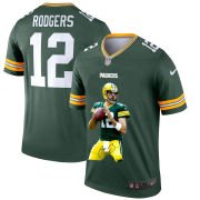 Wholesale Cheap Green Bay Packers #12 Aaron Rodgers Men's Nike Player Signature Moves Vapor Limited NFL Jersey Green