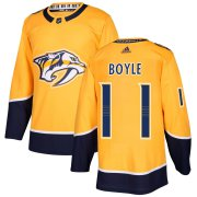 Wholesale Cheap Adidas Predators #11 Brian Boyle Yellow Home Authentic Stitched NHL Jersey
