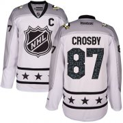 Wholesale Cheap Penguins #87 Sidney Crosby White 2017 All-Star Metropolitan Division Stitched NHL Jersey