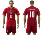 Wholesale Cheap Czech #10 Pospisil Red Home Soccer Country Jersey