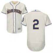 Wholesale Cheap Mariners #2 Jean Segura Cream Flexbase Authentic Collection Stitched MLB Jersey