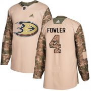 Wholesale Cheap Adidas Ducks #4 Cam Fowler Camo Authentic 2017 Veterans Day Youth Stitched NHL Jersey
