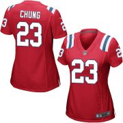 Wholesale Cheap Nike Patriots #23 Patrick Chung Red Alternate Women's Stitched NFL Elite Jersey