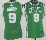 Wholesale Cheap Boston Celtics #9 Rajon Rondo Green Womens Jersey
