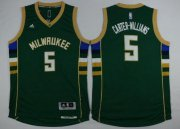 Wholesale Cheap Men's Milwaukee Bucks #5 Michael Carter-Williams Revolution 30 Swingman 2015-16 Green Jersey