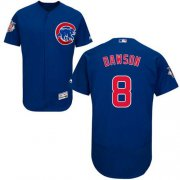 Wholesale Cheap Cubs #8 Andre Dawson Blue Flexbase Authentic Collection Stitched MLB Jersey