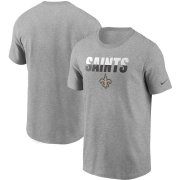 Wholesale Cheap New Orleans Saints Nike Split T-Shirt Heathered Gray