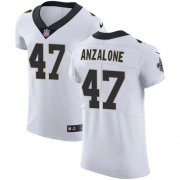 Wholesale Cheap Nike Saints #47 Alex Anzalone White Men's Stitched NFL Vapor Untouchable Elite Jersey