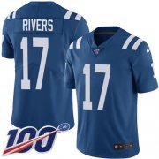 Wholesale Cheap Nike Colts #17 Philip Rivers Royal Blue Team Color Men's Stitched NFL 100th Season Vapor Untouchable Limited Jersey