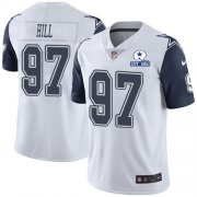 Wholesale Cheap Nike Cowboys #97 Trysten Hill White Men's Stitched With Established In 1960 Patch NFL Limited Rush Jersey