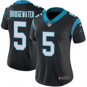 Wholesale Cheap Nike Panthers #5 Teddy Bridgewater Black Team Color Women's Stitched NFL Vapor Untouchable Limited Jersey