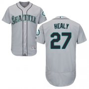 Wholesale Cheap Mariners #27 Ryon Healy Grey Flexbase Authentic Collection Stitched MLB Jersey