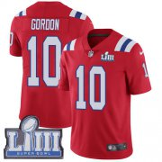 Wholesale Cheap Nike Patriots #10 Josh Gordon Red Alternate Super Bowl LIII Bound Men's Stitched NFL Vapor Untouchable Limited Jersey